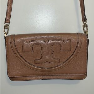 Tory Burch brown leather crossbody